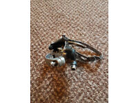 USED. Shimano front derailleur. 31.8mm diameter. 3 chain ring