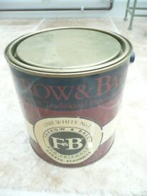 Farrow & Ball Estate Eggshell Paint, Lime White No 1, 2.5 Litres, unused