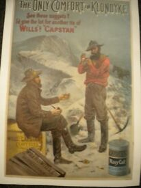 A WILLS CAPSTAR TOBACCO POSTER 18X12 INCHES