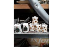 Christmas Taper Candle Holders - Xmas tree star candlestick