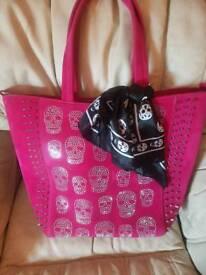 Beautiful bling skull bag
