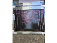 Liquid art crystal mirror framed pictures angels etc