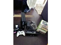 x box 360 slim with all leads one controler and a new kicker