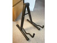 Guitar Stand Foldable A-Frame Black for Acoustic & Electric Guitars