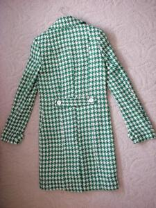Women's Vintage Retro Style Kelly Green White Houndstooth Coat Windsor Region Ontario image 4