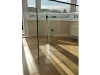 John Lewis solid glass square dining table