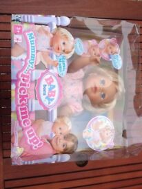 NEW BOXED BABY BORN BLONDE DOLL MUMMY PICK ME UP RARE TEDDINGTON