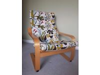 Ikea POÄNG Armchair with stylish colourful covering