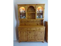 Ducal solid natural pinewood (dining room) '3 door-dresser' with lighting