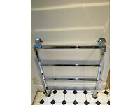 Art deco period vintage old fashioned traditional electric bathroom heated chrome towel rail