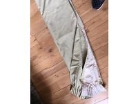Fully lined great quality pale green curtains 122 x 126cm ( each curtain)
