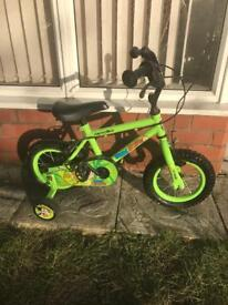 MARVIN THE MONKEY BIKE WITH STABILISERS, good used condition