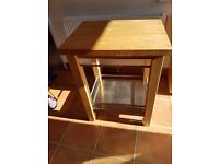 Kitchen Island Cart With Hard wood top and stainless steel bottom