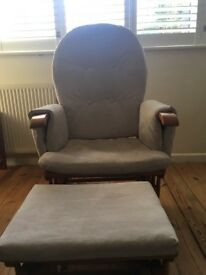 Nursing Chair Tutti Bambini Glider chair and foot stool.