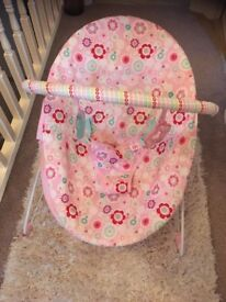Baby girl bright stars bouncer