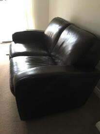 Beautiful Leather sofa and chair for sale