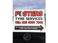 FOSTERS TYRE SERVICES LTD NEW & BRANDED PARTWORN CARS,VANS & 4X4 TYRES