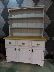 Stunning Reclaimed Shabby Chic Pine Dresser 4 Foot Wide - UK Delivery
