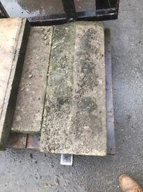 Concrete twice weatherd copings
