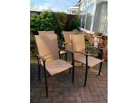 4 higher backed garden chairs