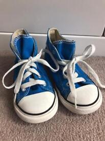 Blue converse Hi Tops size 9 uk Infant Boy Girl