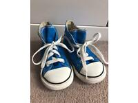 Blue converse Hi Tops size 9 uk Infant Boy Girl