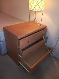 Very nice contemporary chest of drawer, robust, light colour, excellent state
