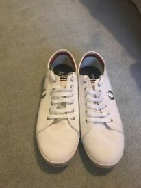 White Fred perry trainers
