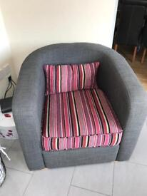 2 seater , tub chair , poofy