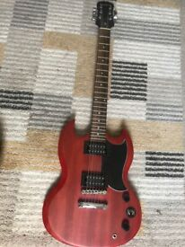 Red Epiphone SG