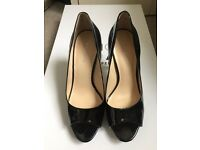 Size 5 Nine West black patent platform high heel