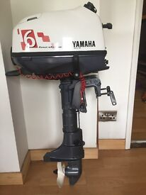 Outboard motor 2014 6hp four stroke Yamaha motor short shaft in near new condition