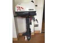 2014 6hp four stroke Yamaha motor short shaft in near new condition