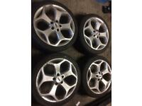 Ford 18 inch st alloys with tyres