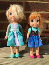 Frozen Elsa and Anna Dolls