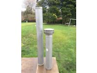 TWIN WALL IL GAS FLUE PIPE AND COWL