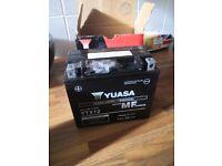 Yuasa 12v motorcycle battery new