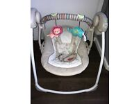 Ingenuity baby swing up to 6 months, RRP £70. Hardly used!!