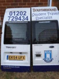 Ford transit rear doors minibus/camper