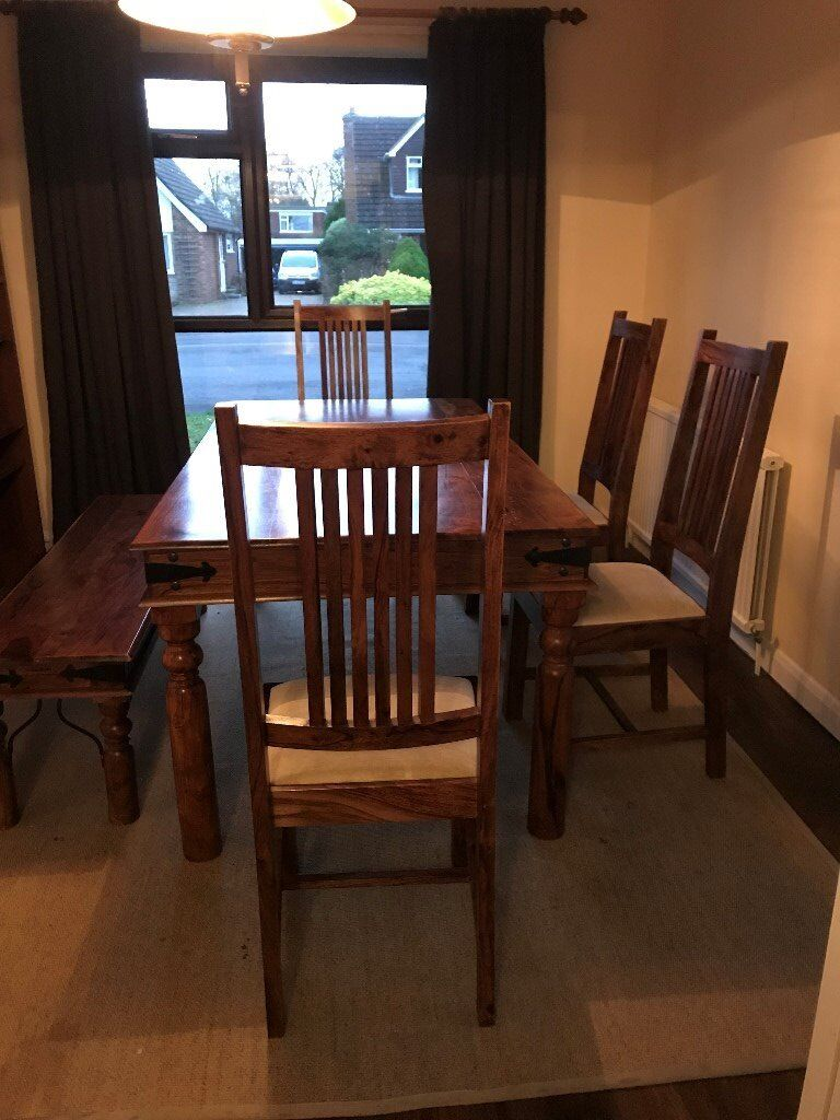 John Lewis Maharani Dining Room Table and chairs(Free ...
