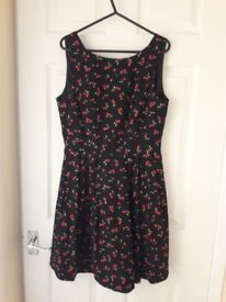 2 dresses with cherry design