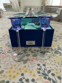 Avoca Blue Candle Stick Holders