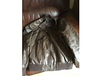 men's large leather jacket as new - 2 see pic