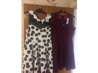 3 x Dresses and 1 Top from Quiz All New with Labels, originally cost over £100 Size 16, Medium Large