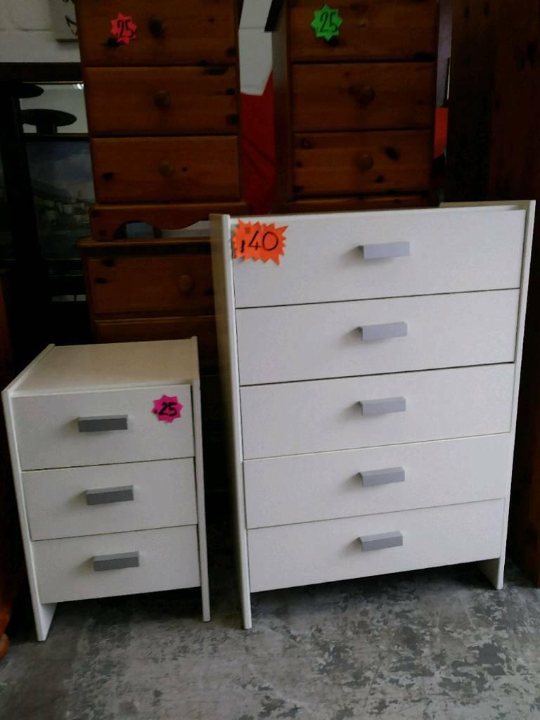 White Bedroom Furniture Items Used In Drumchapel Glasgow Gumtree
