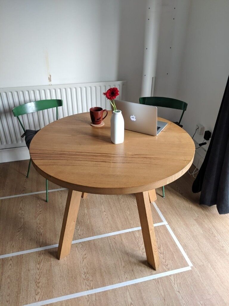 Round Wooden Dining Table Very Solid In Islington London Gumtree