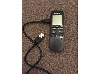Sony IC Recorder with AAA batteries