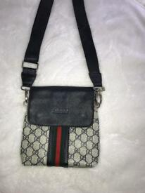 GUCCI collection inc side bag with matching belt and one black belt!!