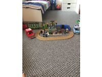Postman pat set with 13 figures and 3 cats