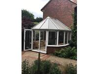 Conservatory 3600 down to 3155 length is 3100